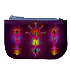 Abstract Bright Colorful Background Large Coin Purse