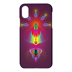 Abstract Bright Colorful Background Apple Iphone X Hardshell Case