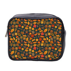 Pattern Background Ethnic Tribal Mini Toiletries Bag 2 Side