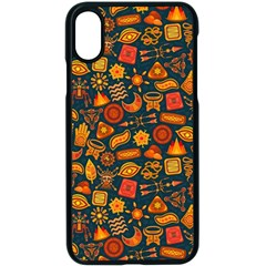Pattern Background Ethnic Tribal Apple Iphone X Seamless Case (black) by Nexatart