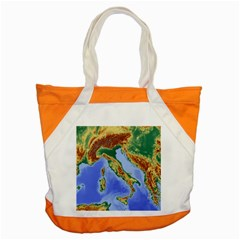 Italy Alpine Alpine Region Map Accent Tote Bag by Nexatart