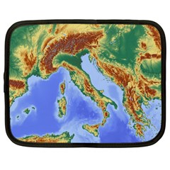 Italy Alpine Alpine Region Map Netbook Case (xl)