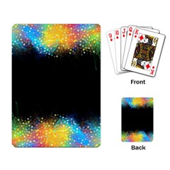 Frame Border Feathery Blurs Design Playing Card by Nexatart