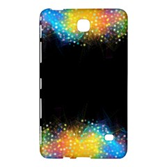 Frame Border Feathery Blurs Design Samsung Galaxy Tab 4 (7 ) Hardshell Case  by Nexatart
