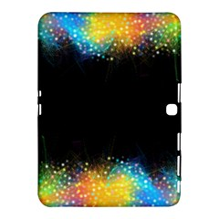 Frame Border Feathery Blurs Design Samsung Galaxy Tab 4 (10 1 ) Hardshell Case