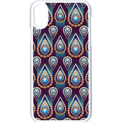 Seamless Pattern Pattern Apple Iphone X Seamless Case (white)
