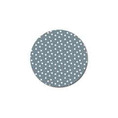 Floral Dots Blue Golf Ball Marker (4 Pack) by snowwhitegirl