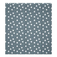 Floral Dots Blue Shower Curtain 66  X 72  (large)  by snowwhitegirl
