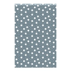 Floral Dots Blue Shower Curtain 48  X 72  (small)  by snowwhitegirl