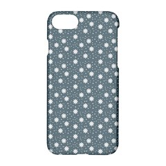 Floral Dots Blue Apple Iphone 7 Hardshell Case