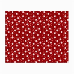 Floral Dots Red Small Glasses Cloth (2-side) by snowwhitegirl