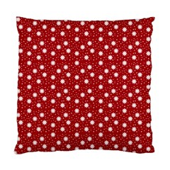 Floral Dots Red Standard Cushion Case (two Sides) by snowwhitegirl