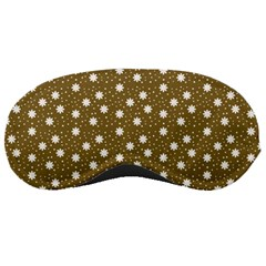 Floral Dots Brown Sleeping Masks by snowwhitegirl