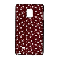 Floral Dots Maroon Galaxy Note Edge
