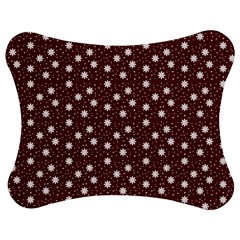 Floral Dots Maroon Jigsaw Puzzle Photo Stand (bow) by snowwhitegirl