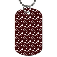 Dinosaurs Red Dog Tag (two Sides) by snowwhitegirl
