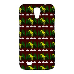 Dino In The Mountains Red Samsung Galaxy Mega 6 3  I9200 Hardshell Case by snowwhitegirl