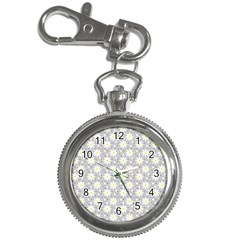 Daisy Dots Grey Key Chain Watches by snowwhitegirl
