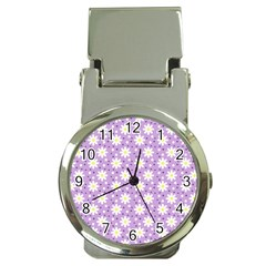 Daisy Dots Lilac Money Clip Watches by snowwhitegirl