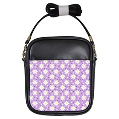 Daisy Dots Lilac Girls Sling Bags