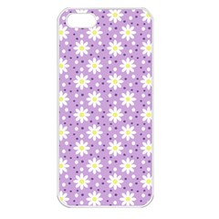 Daisy Dots Lilac Apple Iphone 5 Seamless Case (white) by snowwhitegirl