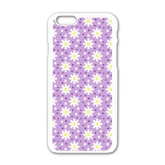 Daisy Dots Lilac Apple Iphone 6/6s White Enamel Case by snowwhitegirl