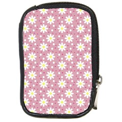 Daisy Dots Pink Compact Camera Cases by snowwhitegirl