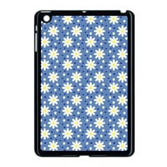 Daisy Dots Blue Apple Ipad Mini Case (black) by snowwhitegirl