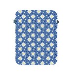 Daisy Dots Blue Apple iPad 2/3/4 Protective Soft Cases Front