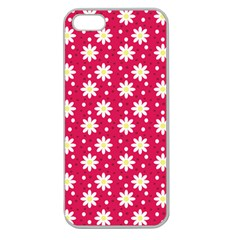 Daisy Dots Light Red Apple Seamless Iphone 5 Case (clear) by snowwhitegirl