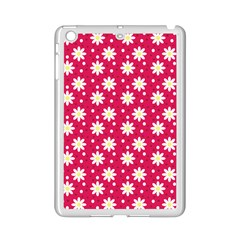 Daisy Dots Light Red Ipad Mini 2 Enamel Coated Cases by snowwhitegirl