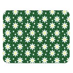 Daisy Dots Green Double Sided Flano Blanket (Large)  80 x60 Blanket Front