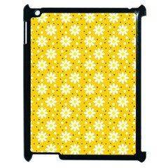 Daisy Dots Yellow Apple Ipad 2 Case (black) by snowwhitegirl