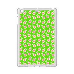 Square Flowers Green Ipad Mini 2 Enamel Coated Cases by snowwhitegirl