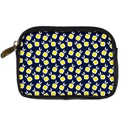 Square Flowers Navy Blue Digital Camera Cases by snowwhitegirl