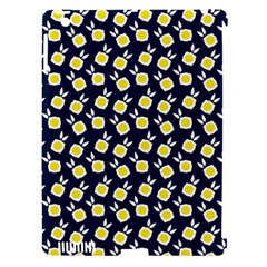 Square Flowers Navy Blue Apple Ipad 3/4 Hardshell Case (compatible With Smart Cover) by snowwhitegirl