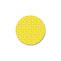 Square Flowers Yellow Golf Ball Marker by snowwhitegirl