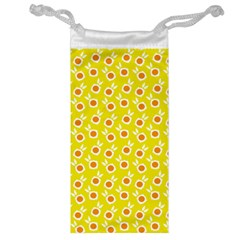 Square Flowers Yellow Jewelry Bag by snowwhitegirl