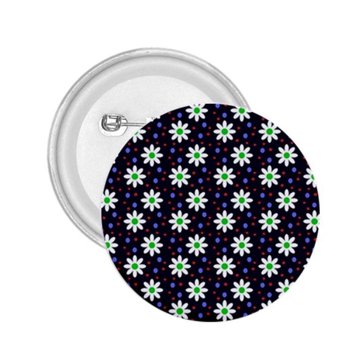Daisy Dots Navy Blue 2.25  Buttons