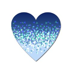 Blue Disintegrate Heart Magnet by jumpercat
