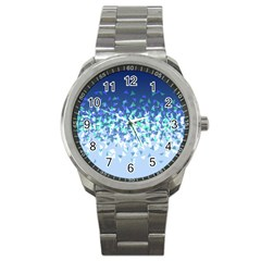 Blue Disintegrate Sport Metal Watch