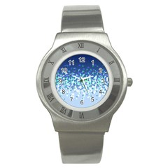 Blue Disintegrate Stainless Steel Watch