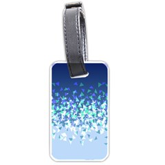 Blue Disintegrate Luggage Tags (two Sides) by jumpercat