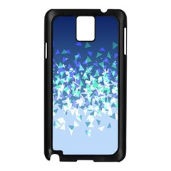 Blue Disintegrate Samsung Galaxy Note 3 N9005 Case (black)