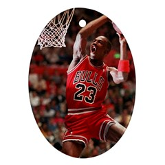 Michael Jordan Oval Ornament (two Sides) by LABAS