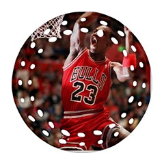 Michael Jordan Round Filigree Ornament (two Sides) by LABAS