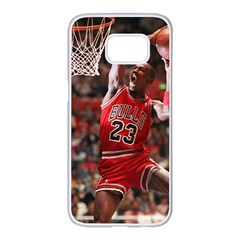 Michael Jordan Samsung Galaxy S7 Edge White Seamless Case by LABAS