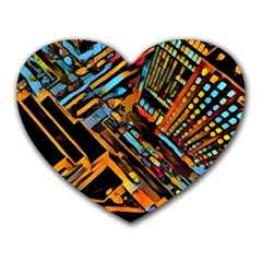 City Scape Heart Mousepads by 8fugoso