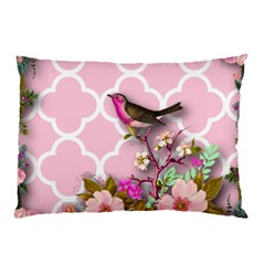 Shabby Chic,floral,bird,pink,collage Pillow Case