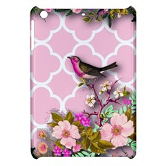 Shabby Chic,floral,bird,pink,collage Apple Ipad Mini Hardshell Case by 8fugoso